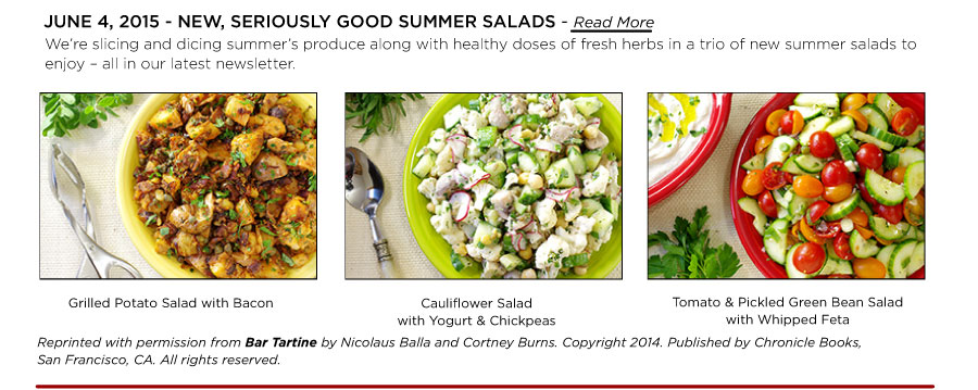 June 4, 2015 - New Salads